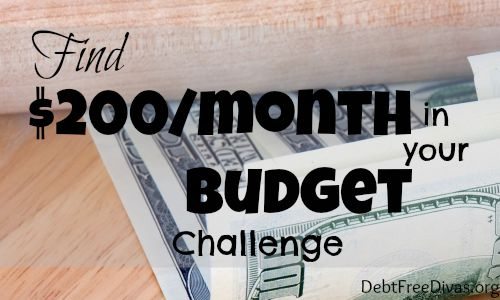 Find $200/month in your Budget Challenge